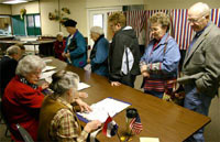 Voters November 2, 2004... a C-T photo